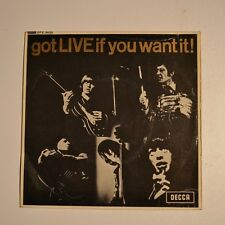 "ROLLING STONES Got live if you want it ! - 1965 ORIGINAL 7"" EP"