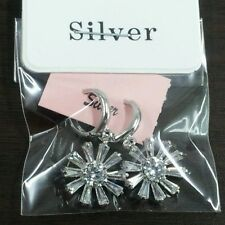 925sterling silver Shiny Lucky flower earrings round charm fashion free shipping
