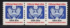 #O135 20c Official     PNC3  Pl #1 - MNH