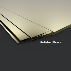 POLISHED BRASS SHEET - 0.9mm thick ALL SIZES  - FREE CUTTING