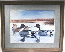"DUCKS Painting 78/250 Signed Print by Michigan Artist Roma Forgie 24x18"" 33x27"""