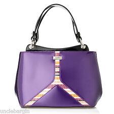 Serenade Purple Tulip Genuine Leather Handbag (SH24-7121)