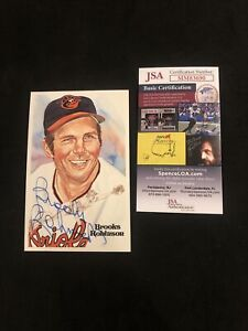 Brooks Robinson Signed Perez-Steele HOF Postcard Autograph HIGH GRADE JSA (1983)