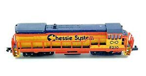 Vintage N Scale Bachmann Chessie System C & O  Diesel Locomotive 8210 Yellow