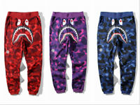 New Hot Bathing Ape Pants Bape Sweatpants Skinny Outwear Casual Jogger Trousers