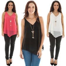 Polyester Animal Print Sleeveless Tops & Blouses for Women