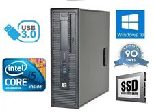 Fast Cheap HP 4th Gen i5 Quad Core 240Gb SSD 500GB 8GB Win10 Desktop Computer PC