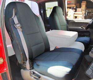 DODGE RAM 1500 2500 3500 1998-2002 CHARCOAL VINYL CUSTOM FRONT SEAT COVERS