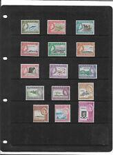 "BRITISH VIRGIN ISLANDS 1964 PICTORIAL SET SG.178-192 ""BIRDS,FISH,AIRCRAFT"" MNH"