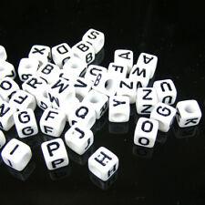 100pcs DIY Mixed Alphabet/Letter Acrylic Cube Beads 6x6mm Choose