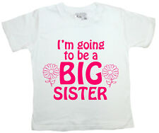 "Big Sister T-Shirt ""I'm Going to be Big Sister"" Funny Girl Tee Clothes Present"
