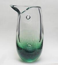"""GARGANTUAN IITTALA STUDIO ART GLASS VASE """"BIRD"""" SIGNED HEIKKI VAISANEN ~ 17"""""""