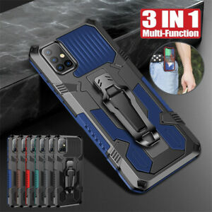 For Samsung A71 A51 5G A41 A31 A21 Shockproof Rugged Armor Hard Stand Cover Case