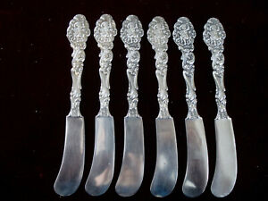 "Set of 6 ~ Antique ~ Gorham ~ VERSAILLES ~ Flat Butter Spreaders ~ 5 3/4"" ~ mono"