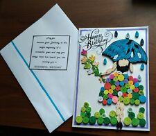 New Handmade Paper Quilling  Birthday Greeting Card - Happy Birthday