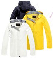 Womens Rain Mac Waterproof Raincoat Ladies Jacket Size 8 10 12 14 16 Yellow