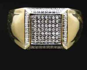14K Yellow Gold Plated Brilliant Engagement Wedding Cluster Ring 2.4 CT Diamond