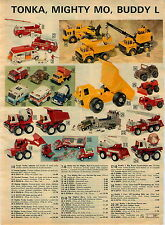 1976 ADVERTISEMENT Buddy L Tonka Mighty Mo Toy Truck Big Brute Dump Truck Crane