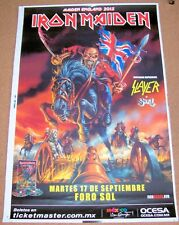 IRON MAIDEN SLAYER GHOST CONCERT POSTER TUESDAY 17th SEPT 2013 FORO SOL MEXICO