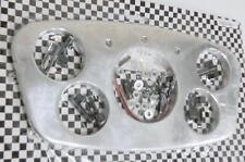 1933 1934 Ford Street Rat Rod Polished Aluminum Smooth Dash Gauge Insert Trim