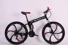 "26"" FOLDING MOUNTAIN BIKE BICYCLE  BLACK SHIMANO 21S MAGNESIUM 5SPOK ALLOY WHEEL"