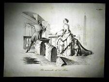 Incisione d'allegoria e satira 16 novembre 1848, Avv.Galletti  Don Pirlone 1851
