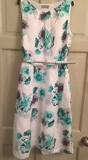 Ladies Tea Dress Size 8 10 Gorgeous Floral Per Una M&S