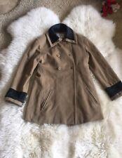 Authentic CHANEL Vintage CC Logos Long Sleeve Coat Jacket Beige Sz38