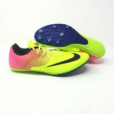 Nike Men's Zoom Rival S Racing Track Cleats Shoes Neon Yellow Pink Size 7.5