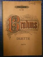 Brahms Duette Edition Peters No.1425 Opus 28 Noten B26535