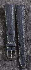 Rare Vintage Zenith Genuine Leather Blue Shark Skin 15mm Watch Band with Buckle