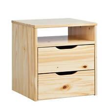 Magnifique commode table de nuit en pin massif  vernis naturel avec 2 tiroirs...