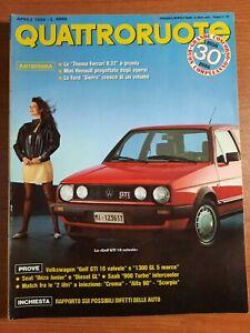 QUATTRORUOTE 1986 APRILE N° 366 IN COPERTINA GOLF GTI 16 VALVOLE SEAT IBIZA