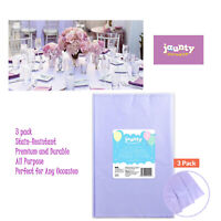 3PACK PURPLE Plastic TABLE COVERS Cloth Cover Party Catering Events Tableware