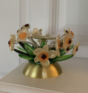 Lalo Candleholder Colorful Whimsical Flowers