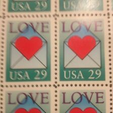 10 Vintage Love stamps For Holiday, Wedding And Valentine Mail