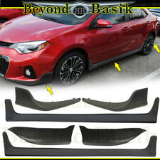 For 2014-2016 TOYOTA COROLLA S Model Only Front Bumper Body Kit+Side Skirts+Rear