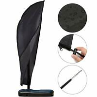 GEMITTO Parasol Cover with Rod 3m Extra Large Cantilever Parasol Cover Outdoor