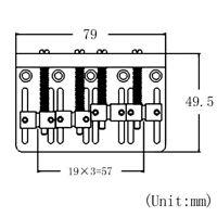 4 String Electric Bass Guitar Bridge for Precision Jazz Bass JB 201B-4 Parts