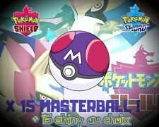 Pokemon Épée/Bouclier(Sword/Shield) 15 Masterball + 15 Shiny au Choix