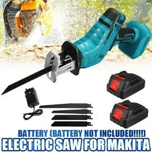 21V Cordless Electric Reciprocating Saw Garden 4Blades Wood Cutter Pruning Saw