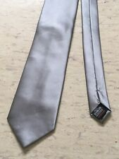 """Next grey solid plain smart formal polyester tie 3.5"""" wide 57"""" long"""
