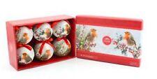 Winter Robin Christmas Tree Baubles x 6