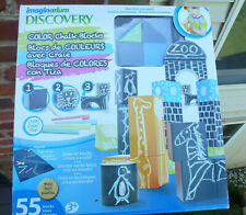 Discovery Chalk Blocks - Wood Learning Imagination Childs Building Toy Kids 3+