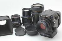 4 Lens 【TOP MINT】 MAMIYA RZ67 Pro II, sekor Z 110mm f2.8, 90mm f3.5, from JAPAN