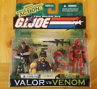 GI JOE Valor Vs Venom 2 Pack! GUNG HO/WILD WEASEL W/Knife-Slashing Action! NIP!