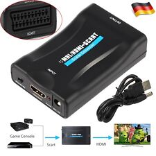 Scart zu HDMI 1080P Video Audio Konverter Adapter Wandler AV HD TV DVD USB Box