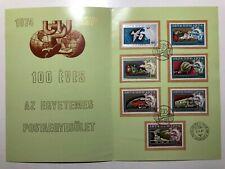 1974 Ungheria Hungary Magyar Posta UPU Centenary Complete Series Folder Booklet