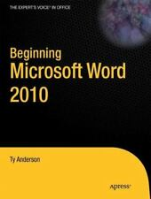 Beginning Microsoft Word 2010 (Paperback or Softback)