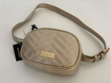 NEW! BEBE SOPHIA CHAMPAGNE GOLD HIP PACK FANNY PACK WAIST BELT BAG $69 SALE